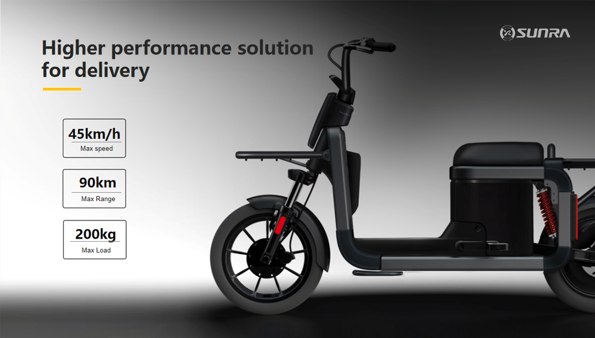 LANDER is a pure SUNRA electric scooter specially designed for delivery solutions.